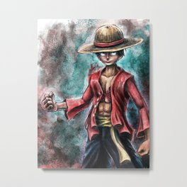 The King of Pirates a Tra-Digital Portrait Metal Print
