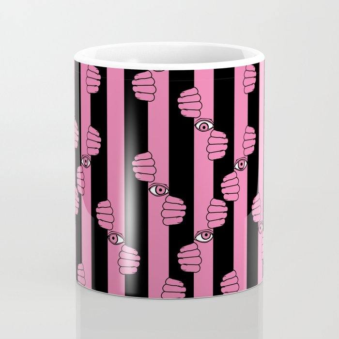 Peeking eyes Coffee Mug
