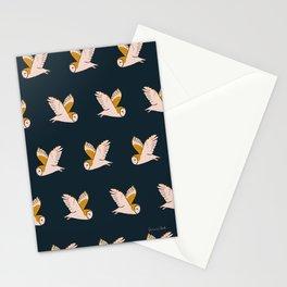 Barn Owls Flight Stationery Cards