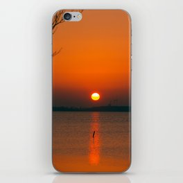 """""""Only"""" the evening sun on the water iPhone Skin"""