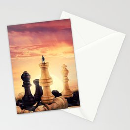 the rise of a chess player Stationery Cards