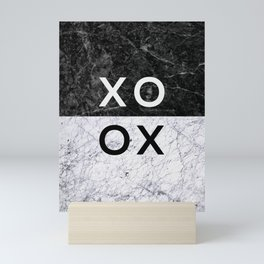 Love Quote Black and White Marble Mini Art Print