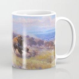 Charles Marrion Russell Buffalo Hunting Neckline 1919 Coffee Mug