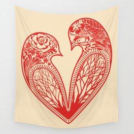 Love Birds Wall Tapestry