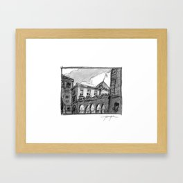 Portland Customs Building Framed Art Print