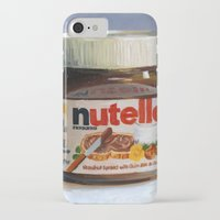nutella iPhone & iPod Cases featuring Nutella Oil Painting by LVP _
