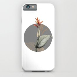 Vintage Indian Shot Botanical Illustration on Circle iPhone Case