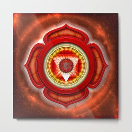 "Muladhara Chakra - Root Chakra - Series ""Open Chakra"" Metal Print"