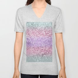 Unicorn Girls Glitter #8 #shiny #pastel #decor #art #society6 Unisex V-Neck