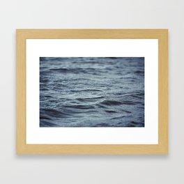 Carved Waves Framed Art Print