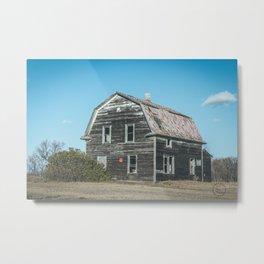 Barn House, Wells County, North Dakota 4 Metal Print