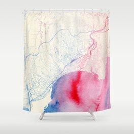 Nizza Map Shower Curtain