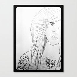BodMod Girl. Canvas Print