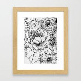 Peony Garden Framed Art Print