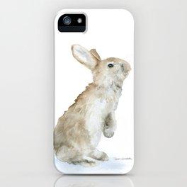 Bunny Rabbit Watercolor iPhone Case