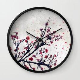 Sakura Sakura watercolour Wall Clock