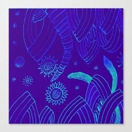 Blue Energy Transformation Canvas Print