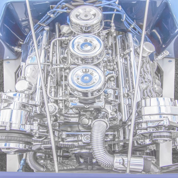 Hot Rod Blue, Automotive Art with Lots of Chrome by Murray Bolesta Comforters
