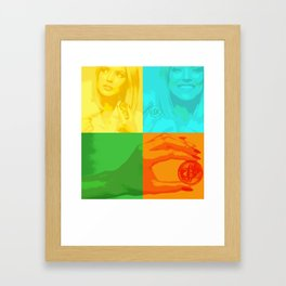 Bitcoin Girl colourful Framed Art Print