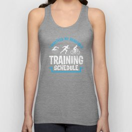 Triathlon Husband Unisex Tank Top