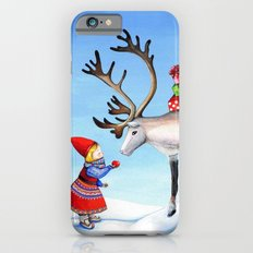 Reindeer and Little Girl Slim Case iPhone 6s