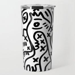 Graffiti Street Art Black and White Travel Mug