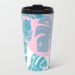 Linocut Monstera Dot Travel Mug