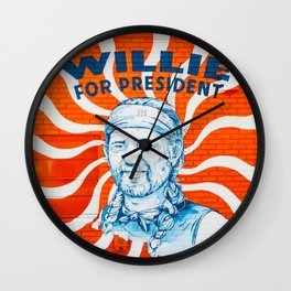 Willie For President Wall Clock