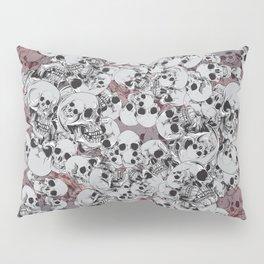 Skulls Grey Pillow Sham