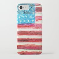 american flag iPhone & iPod Cases featuring American Flag by Brontosaurus