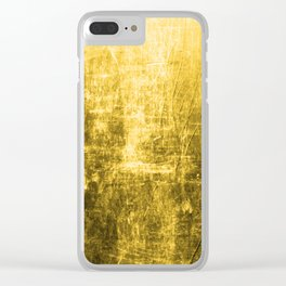 SunYellowTextured & Distressed Design Clear iPhone Case