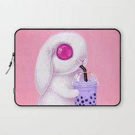 Bunny Loves Bubble Tea Laptop Sleeve
