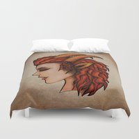 capricorn Duvet Covers featuring Capricorn by redrockit