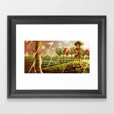Girl with the Umbrella Framed Art Print