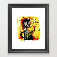 Happy human Framed Art Print