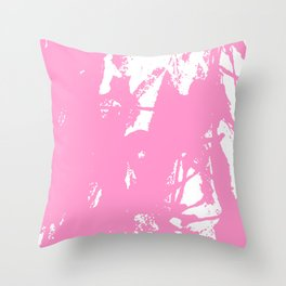 Pink Ink Throw Pillow