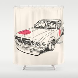 Crazy Car Art 0170 Shower Curtain
