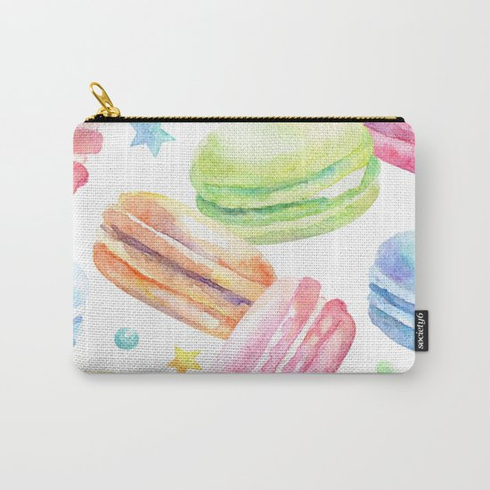Macaroon Pattern Carry-All Pouch