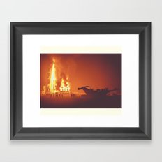 Dragon Burn Framed Art Print