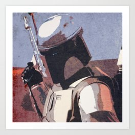 Bobba Fett | The Bounty Hunter | Star War Art Art Print
