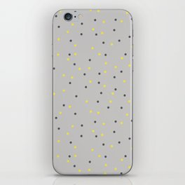 Small Dots Yellow Gray iPhone Skin