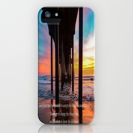 Serenity Prayer - Surf City USA iPhone Case