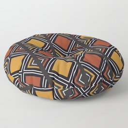 African Tribal Pattern No. 59 Floor Pillow