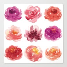 Watercolor flowers Canvas Print