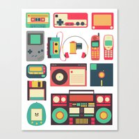 technology Canvas Prints featuring Retro Technology 1.0 by Ralph Cifra