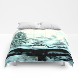 winter wonderland Comforters