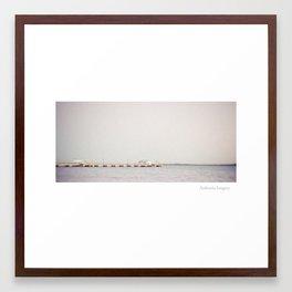 Woody Point Jetty Framed Art Print