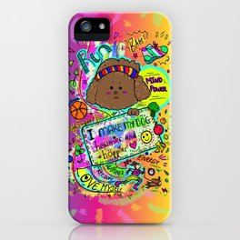 JB the Sporty Chocolate Poodle (Rainbow) iPhone Case