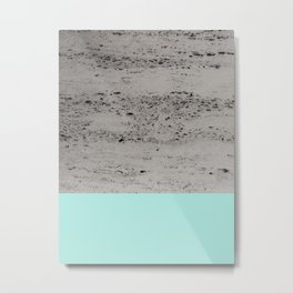 Bright Mint on Concrete #1 #decor #art #society6 Metal Print