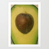 avocado Art Prints featuring Avocado by PattavinaPhotography